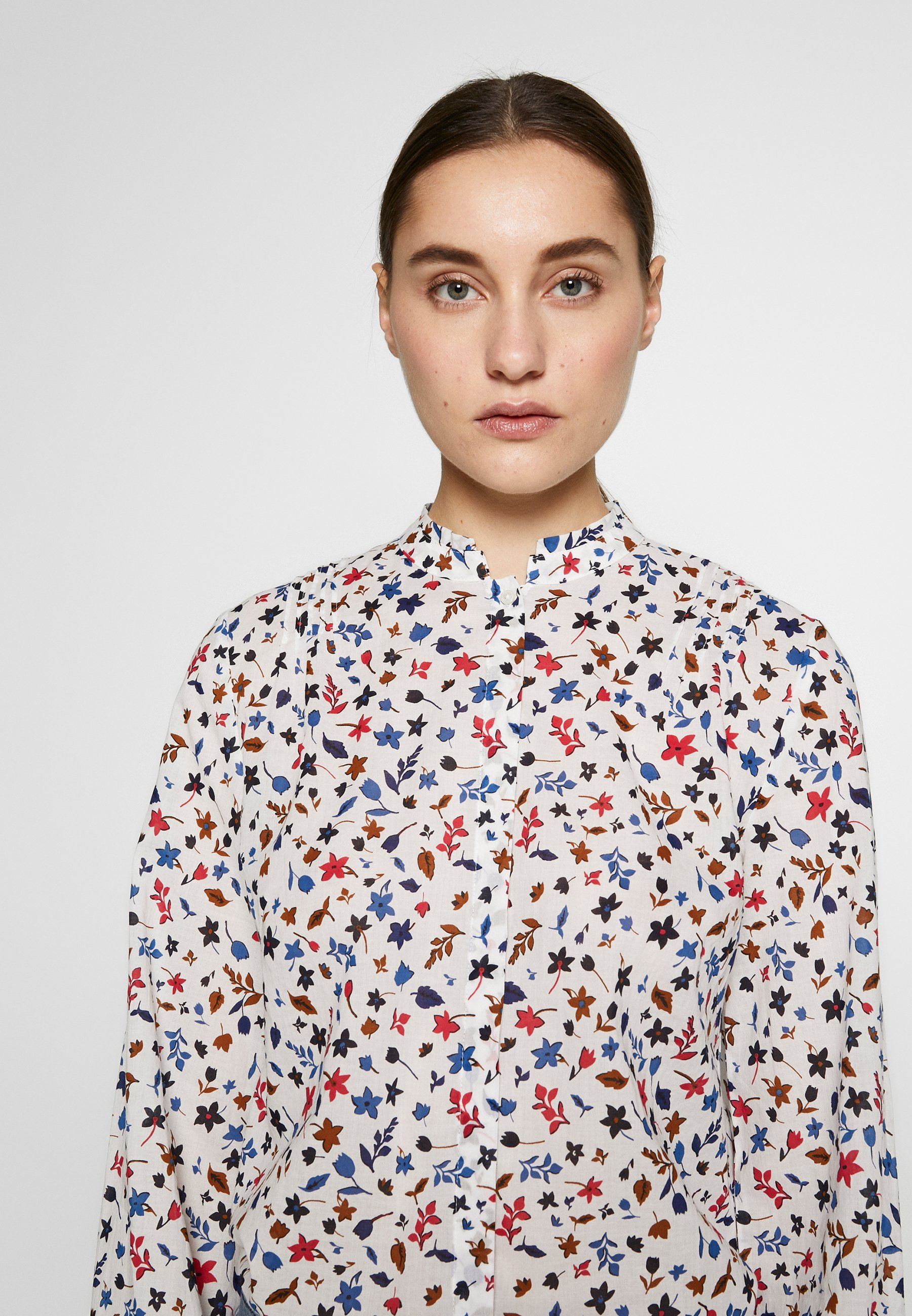 Marc O'polo Blouse Stand Up Collar - Chemisier Multi-coloured