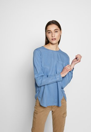 BLOUSE CREW NECK LONG SLEEVED STYLE - Blouse - foggy sky
