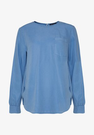 BLOUSE CREW NECK LONG SLEEVED STYLE - Bluser - foggy sky