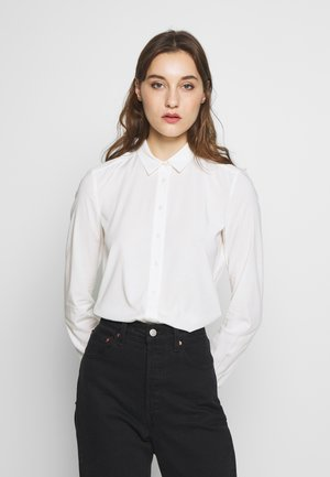 BLOUSE COLLAR LONG SLEEVED - Blouse - off white