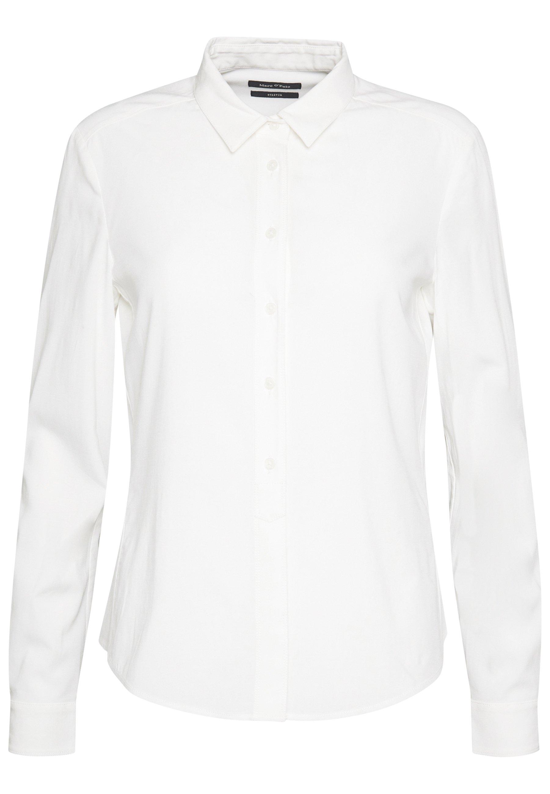 Marc O'Polo BLOUSE COLLAR LONG SLEEVED - Bluzka - off white