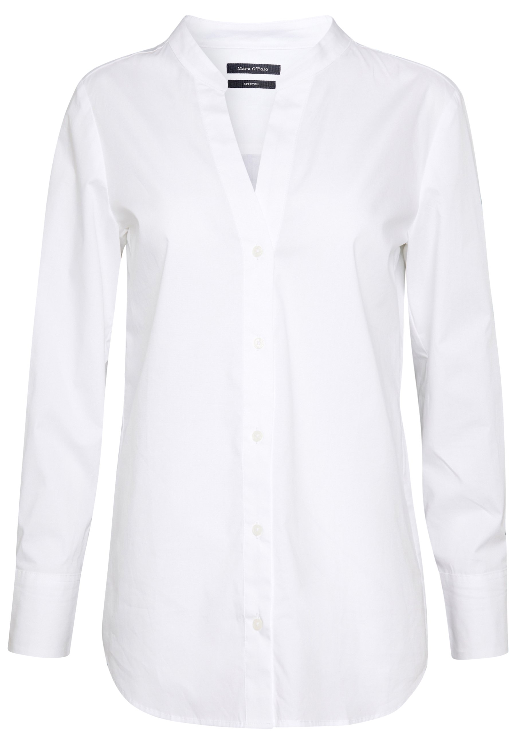 Marc O'Polo BLOUSE FEMININE V-NECK LONG SLEEVE BUTTON THROUGH - Blouse - white mDybh