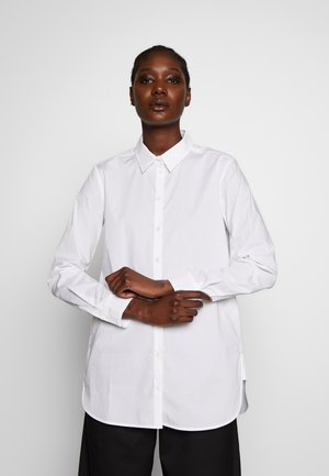 LONG SLEEVED STRAIGHT LONG SHAPED POPLIN  - Camicia - white