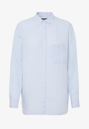 BLOUSE LONG SLEEVED EASY SHAPED CHEST POCKET - Button-down blouse - light blue