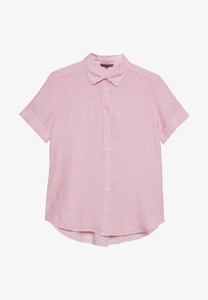 BLOUSE SHORT SLEEVED BUTTON THROUGH STYLE - Button-down blouse - blurred berry