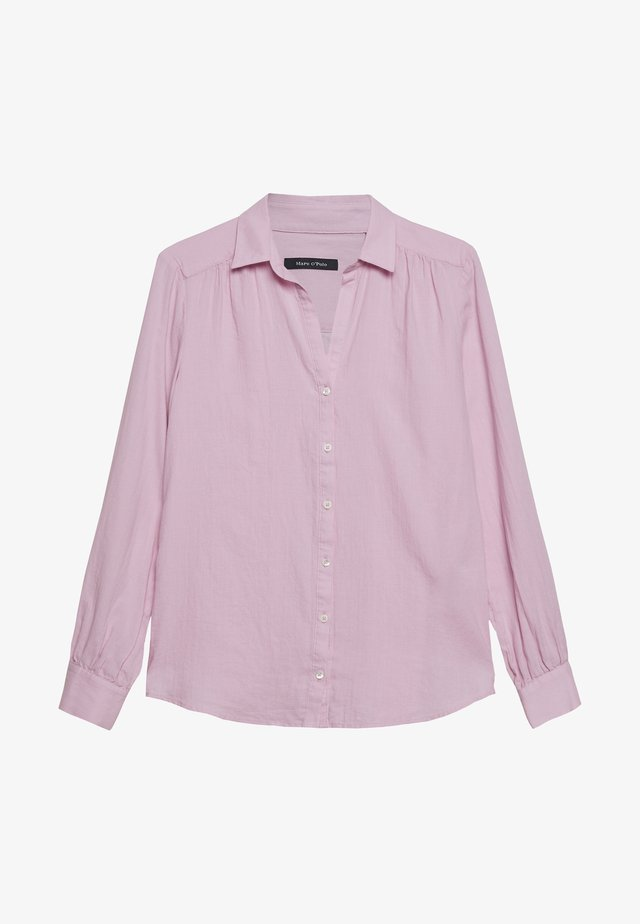 BLOUSE LONG SLEEVED - Button-down blouse - bleached berry