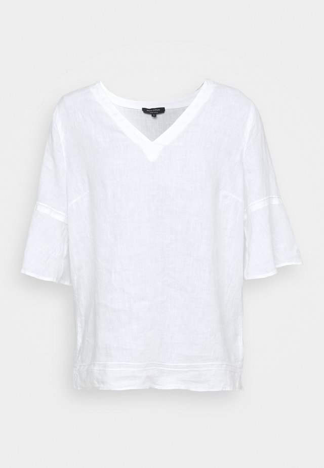 BLOUSE VNECK - Blouse - white