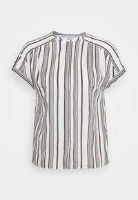 Marc O'Polo - BLOUSE CREW NECK MODERN T-FIT HIDDEN PLACKET GATHERING DETAIL - Camicetta - multi/oyster white - 4