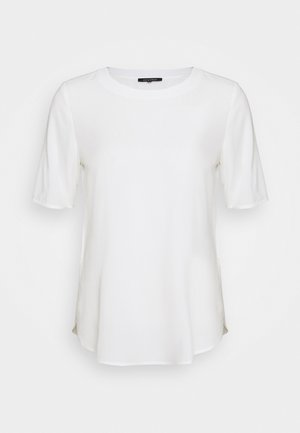 BLOUSE CREW NECK SHORT SLEEVED STYLE - Blouse - off white