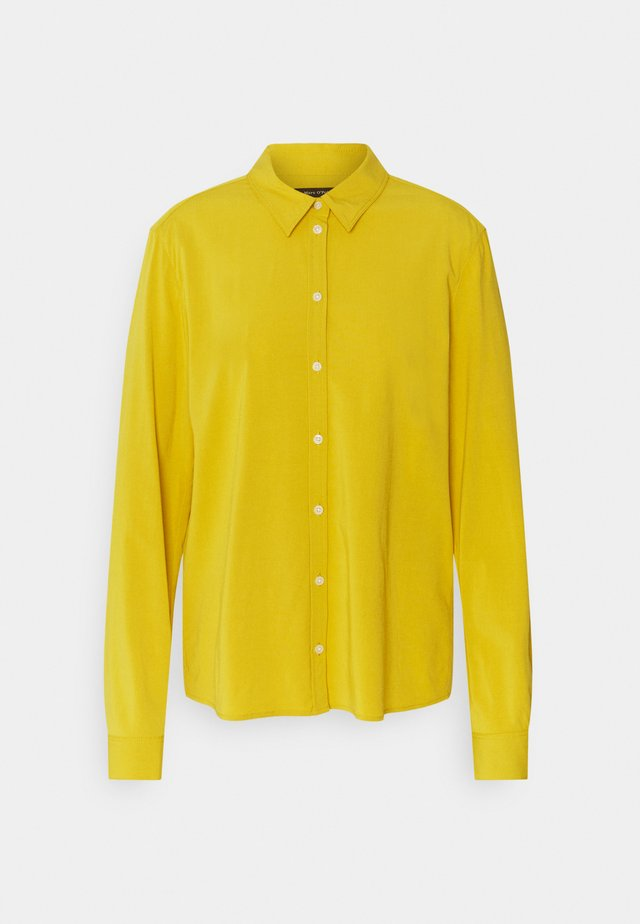 Button-down blouse - pure curry