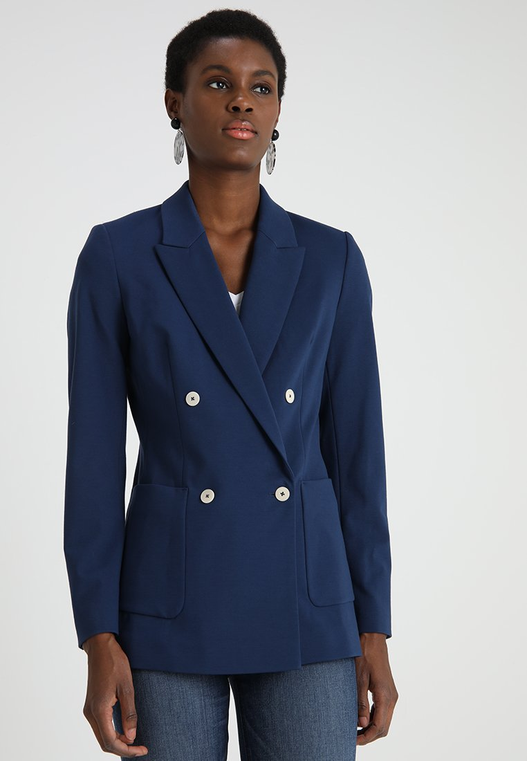 Marc O'Polo - DOUBLE BREASTED - Blazer - tinted ink