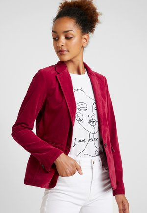 BUTTON SLIM FIT NOTCH - Blazer - light beetroot