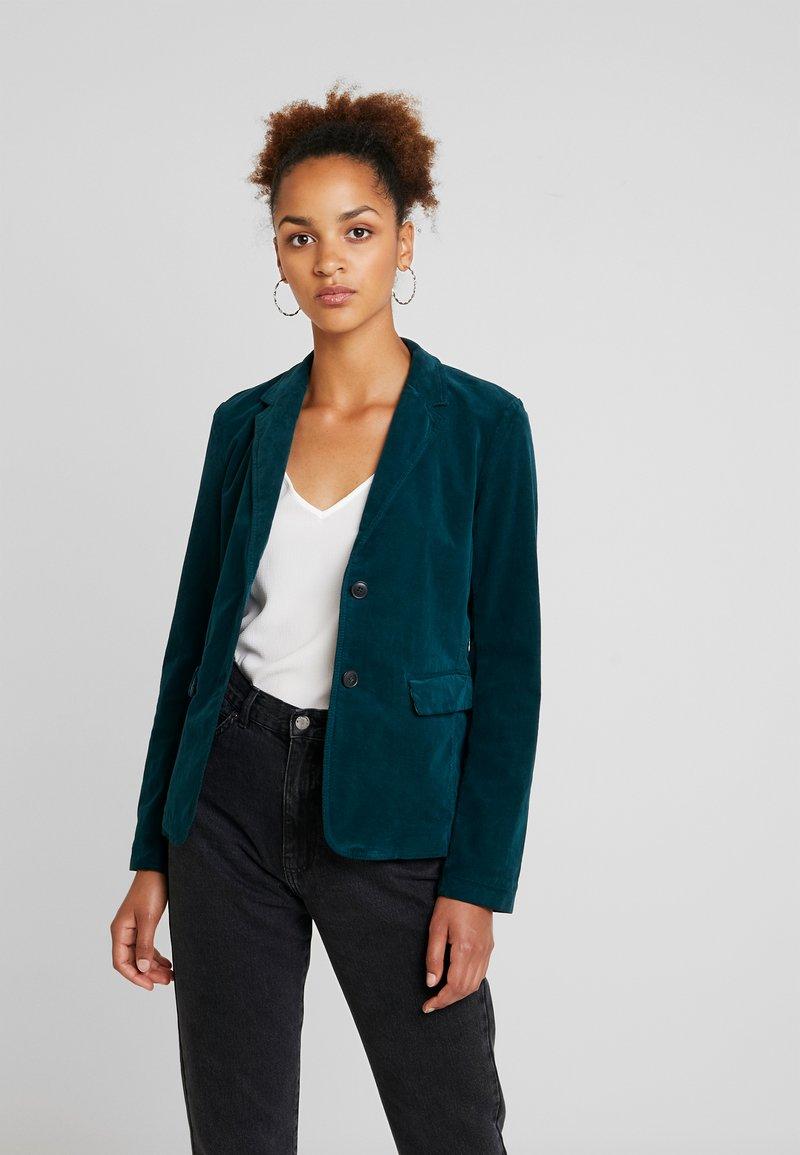 Marc O'Polo - BUTTON SLIM FIT NOTCH - Blazer - dusky emerald