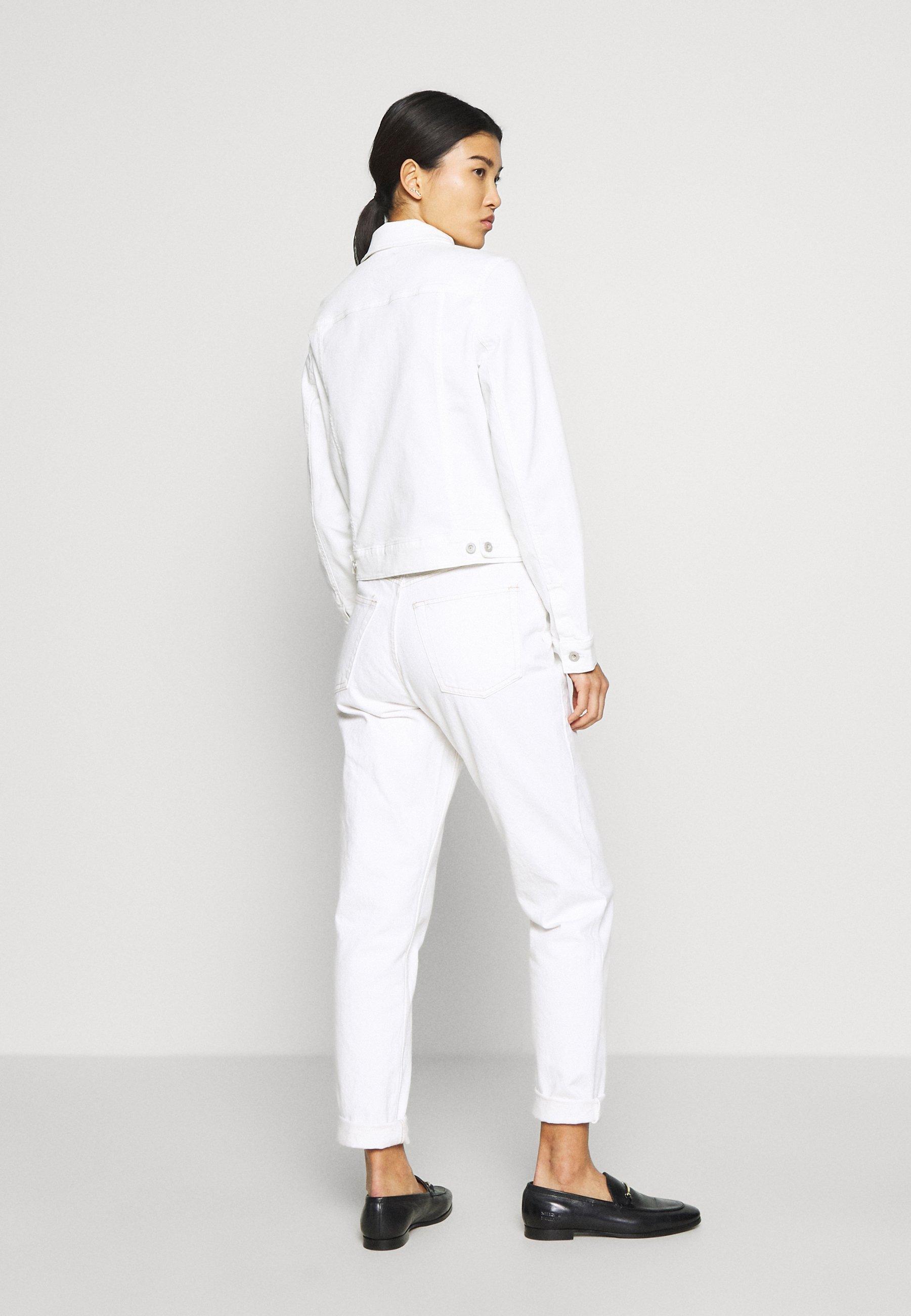Marc O'polo Jacket Button Closure Garment Dyed - Farkkutakki Soft White