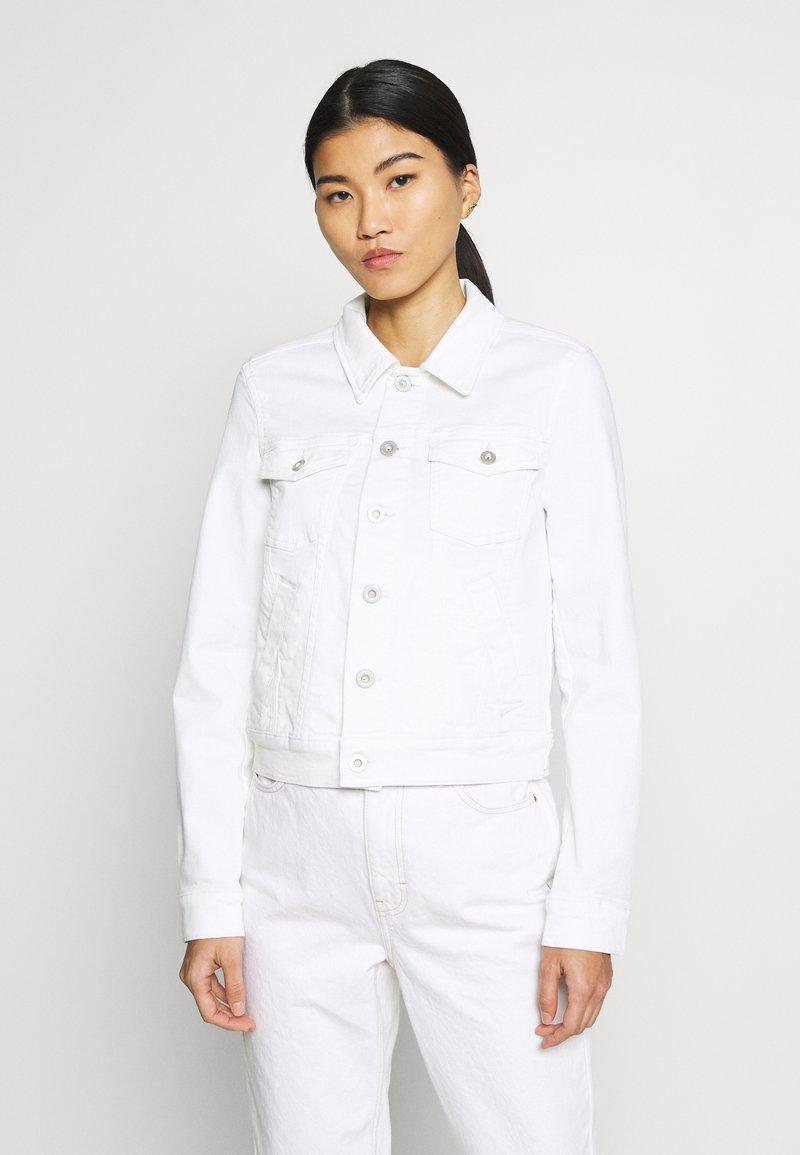 Marc O'Polo - JACKET BUTTON CLOSURE GARMENT DYED - Denim jacket - soft white