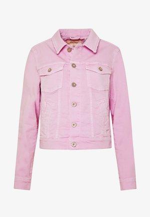 JACKET BUTTON CLOSURE GARMENT DYED - Denim jacket - bleached berry