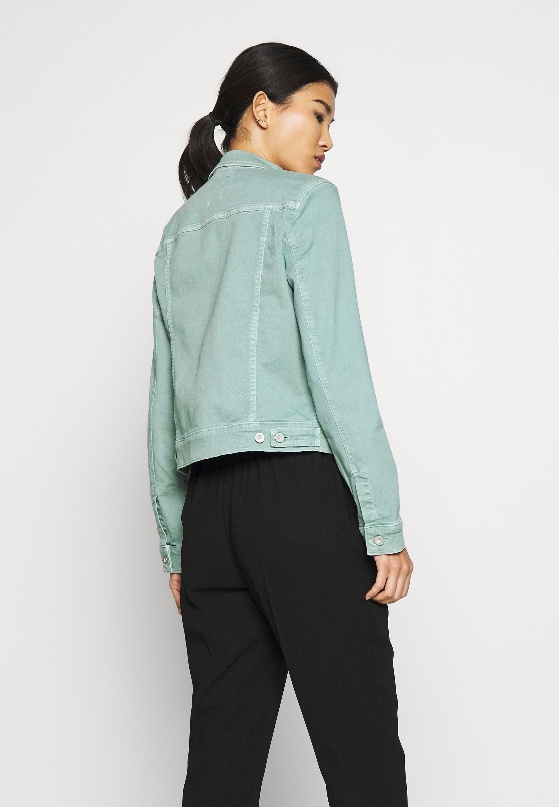 Marc O'polo Jacket Button Closure Garment Dyed - Giacca Di Jeans Misty Spearmint C4Iwekx