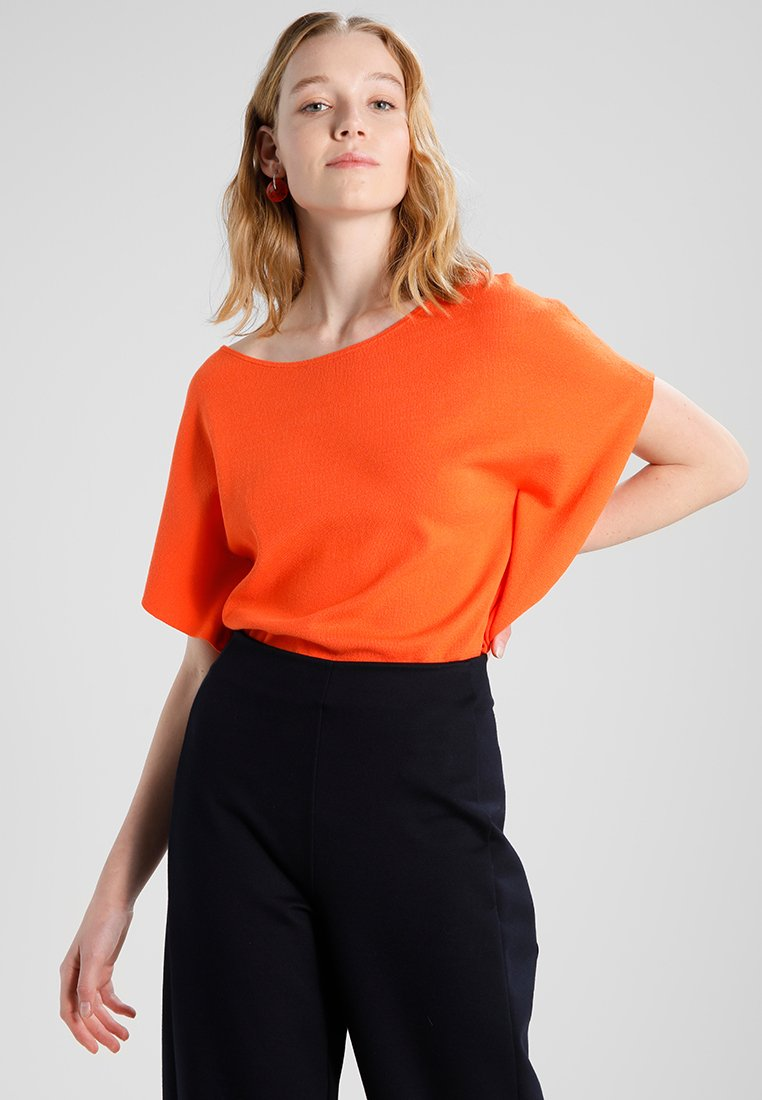 Marc O'Polo - BATWING SLEEVE BOAT NECK - T-Shirt print - flame vine
