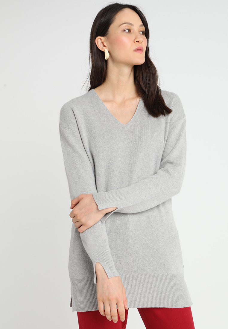 Marc O'Polo - LONG-SLEEVE WITH SLITS - Jumper - misty morning