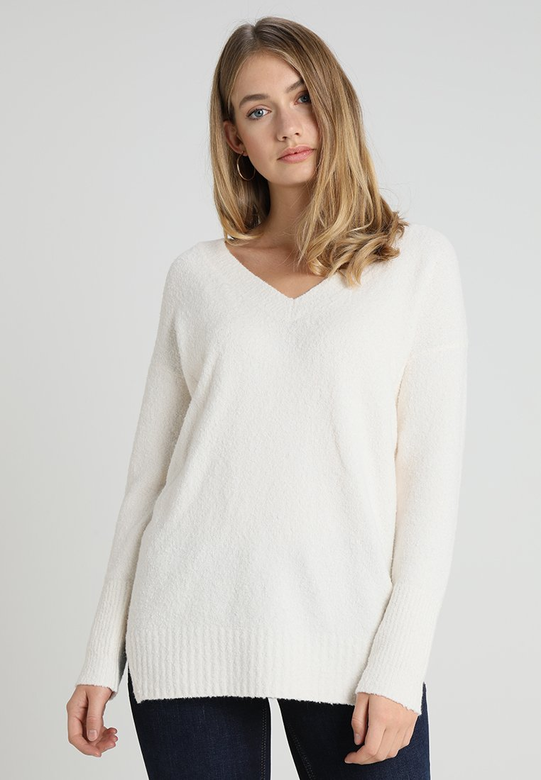 Marc O'Polo - LONGSLEEVE - Strickpullover - raw alabaster