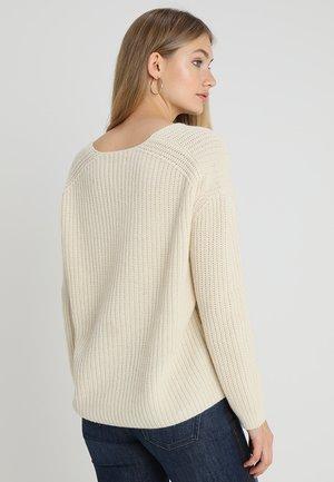 LONGSLEEVE V NECK  - Pullover - offwhite