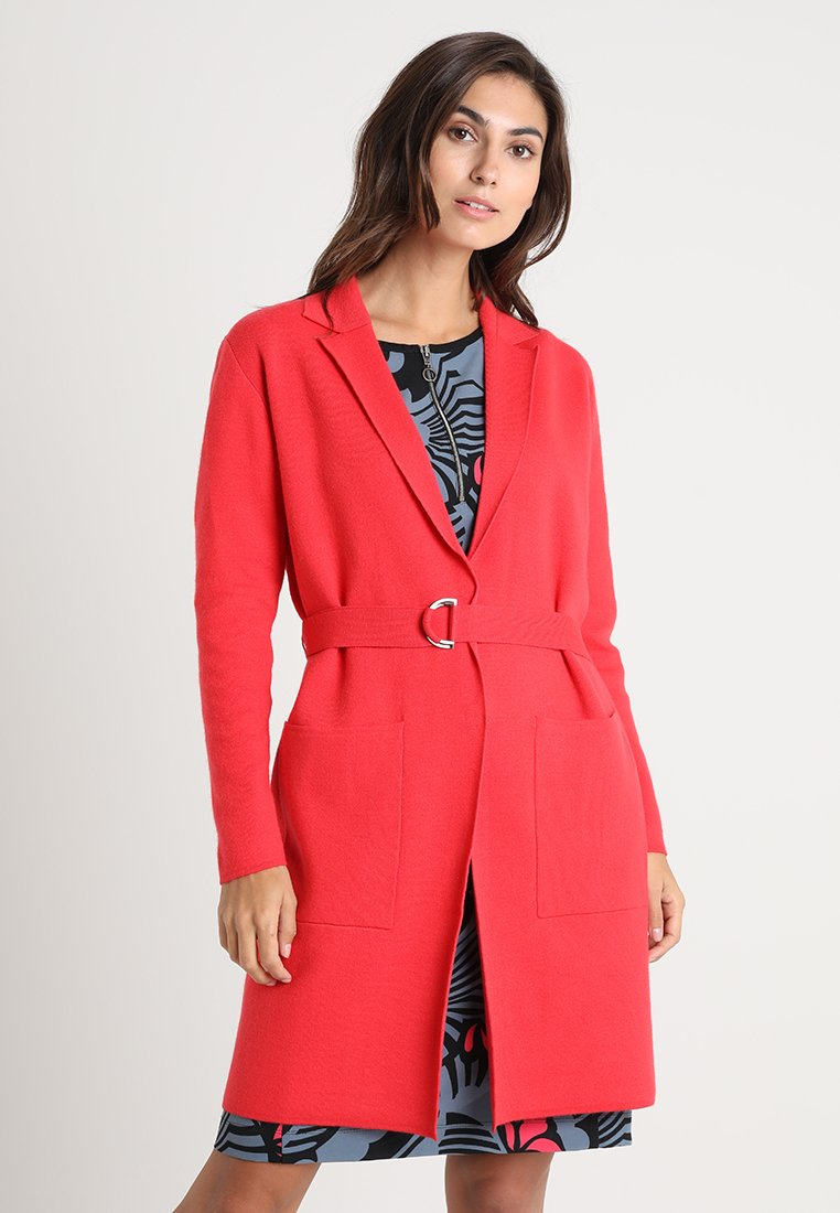 Marc O'Polo PURE - CARDIGAN LONGSLEEVES - Cardigan - brilliant coral