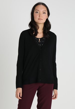 LONGSLEEVES V NECK - Kardigan - black