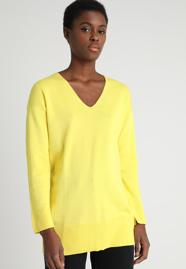 Marc O'Polo - LONG SLEEVE WITH SLITS - Strikpullover /Striktrøjer - spectra yellow