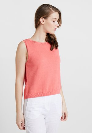 SLEEVELESS WITH CUTOUT - Neule - peach pink