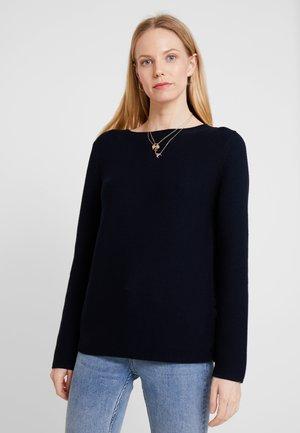 LONGSLEEVE SMALL LINKED - Stickad tröja - midnight blue