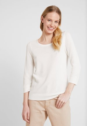 LONG SLEEVE CREW NECK - Sweter - soft white