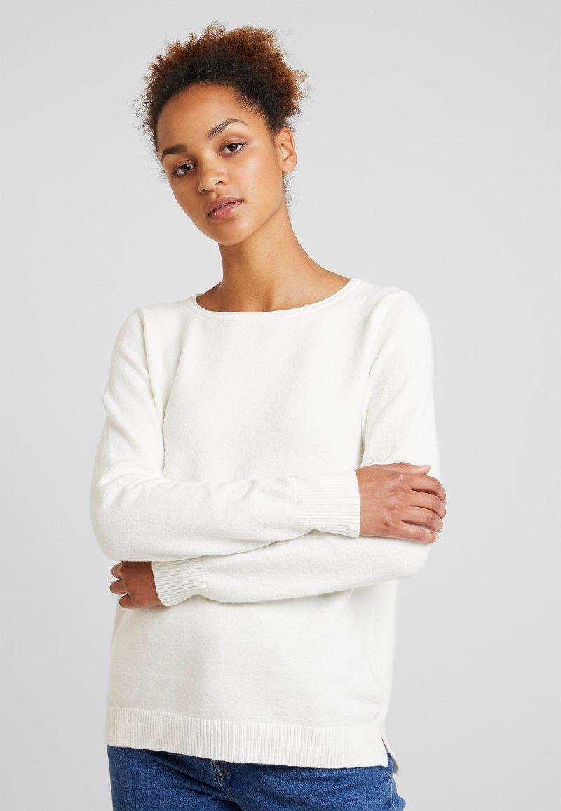 Marc O'Polo - LONGSLEEVE BASIC - Pullover - soft white