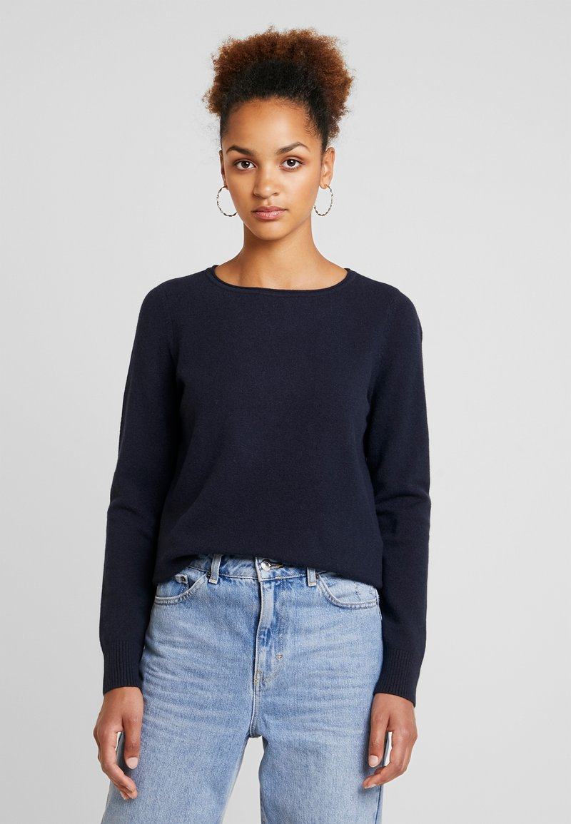 Marc O'Polo - LONGSLEEVE BASIC - Strickpullover - midnight blue