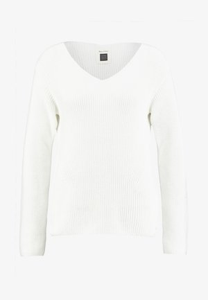 LONG SLEEVE OVERCUTTED - Pullover - soft white
