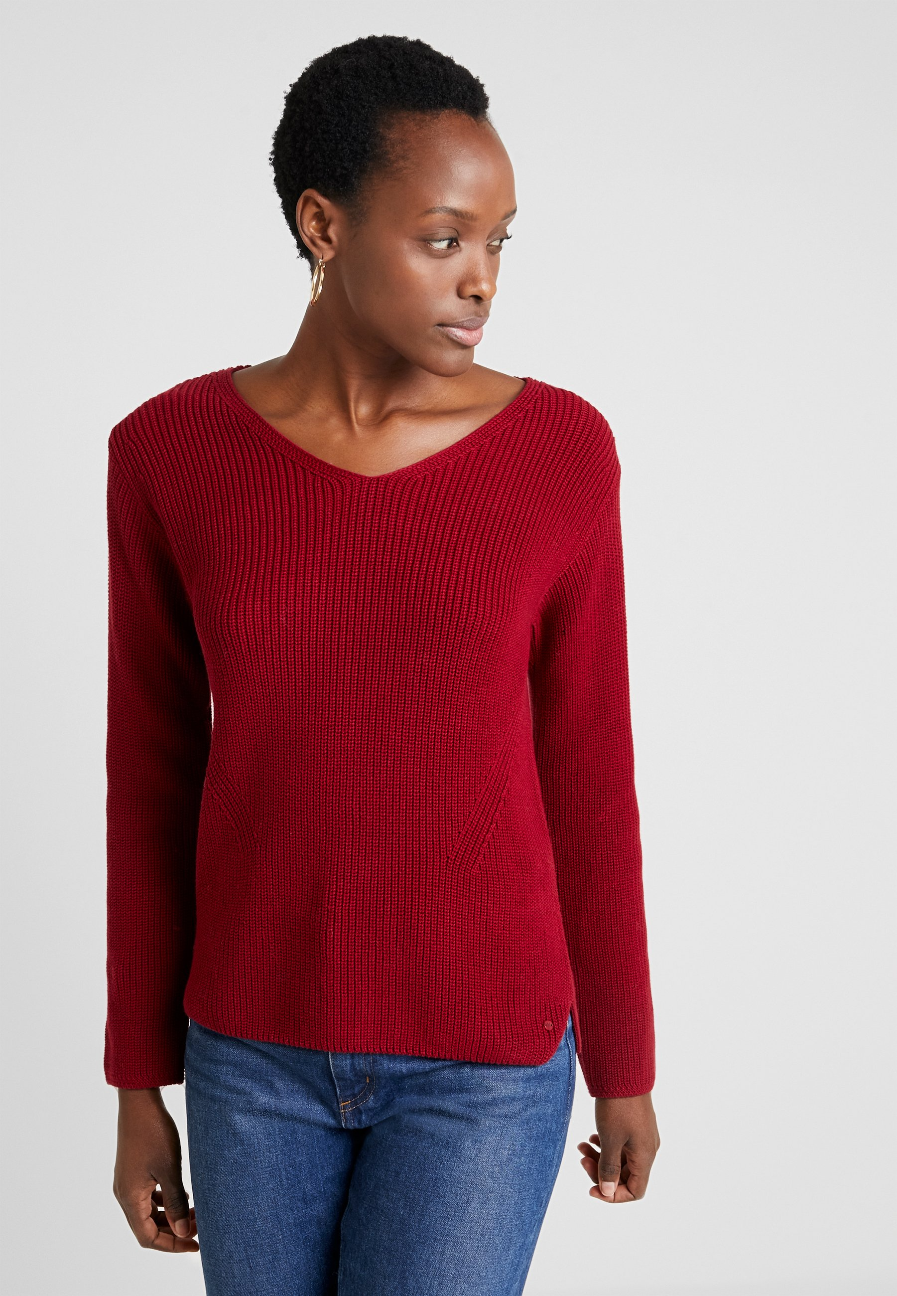 Marc O'Polo LONG SLEEVE OVERCUTTED - Maglione light beetroot