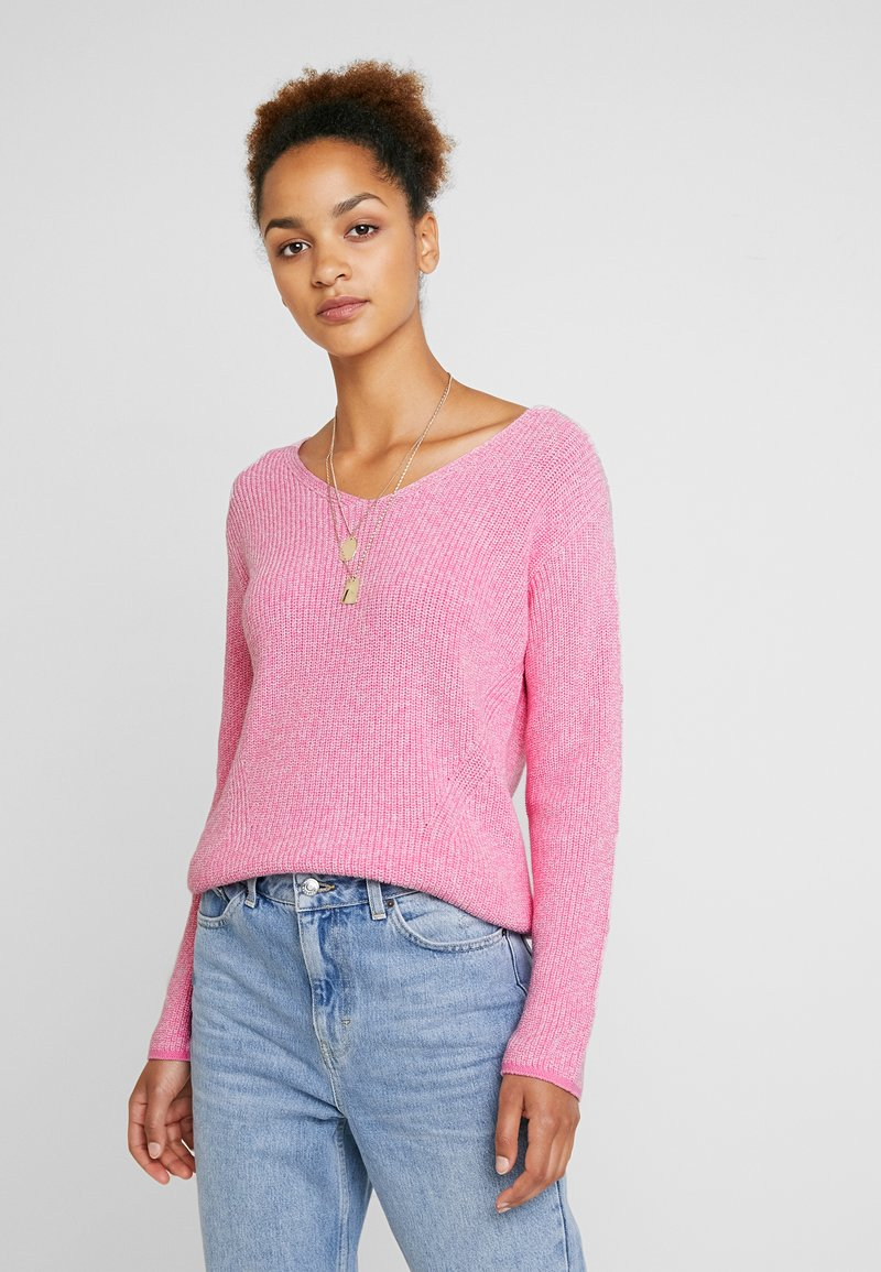 Marc O'Polo - LONG SLEEVE OVERCUTTED - Strickpullover - combo