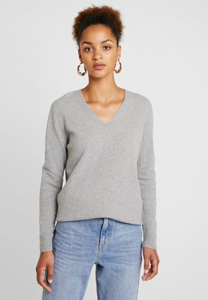LONGSLEEVE V NECK - Jumper - light stone melange