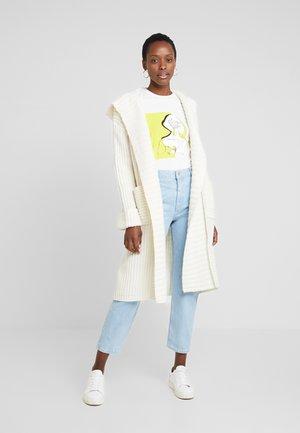 CARDIGAN LONGSLEEVE OPEN FRONT - Vest - soft white