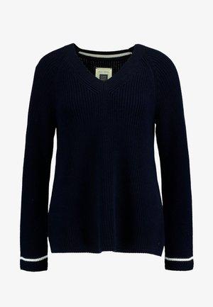 LONGSLEEVE V NECK  - Pullover - midnight blue