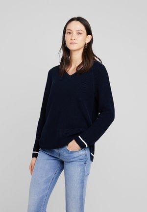 LONGSLEEVE V NECK  - Sweter - midnight blue