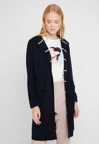 Marc O'Polo - CARDIGAN LONGSLEEVE PATCHED POCKE - Vest - midnight blue - 0