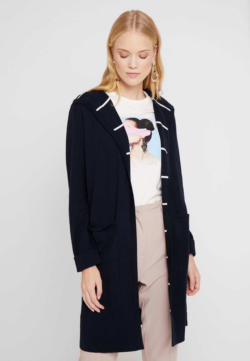Marc O'Polo - CARDIGAN LONGSLEEVE PATCHED POCKE - Vest - midnight blue