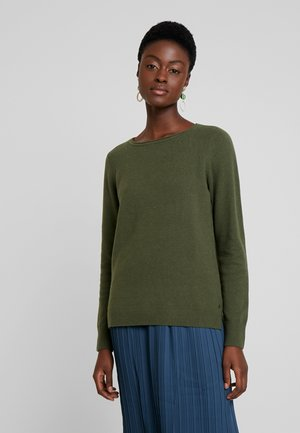LONGSLEEVE BASIC WITH ROUNDNECK - Pullover - farmland green