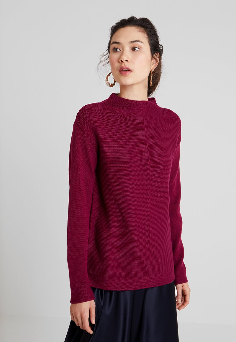 Marc O'Polo - LONGSLEEVE STRUCTURE MIX TURTLENECK - Jumper - berry pink