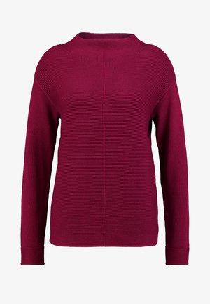 LONGSLEEVE STRUCTURE MIX TURTLENECK - Jersey de punto - berry pink