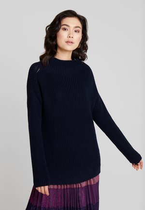 LONGSLEEVE OVERCUTTED SHOULDER TURTLENECK NICE - Pullover - midnight blue