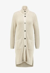Marc O'Polo - CARDIGAN LONGSLEEVE HIGH COLLAR BUTTONS COZY - Chaqueta de punto - honey milk - 4