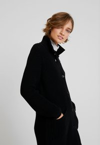 Marc O'Polo - CARDIGAN LONGSLEEVE HIGH COLLAR BUTTONS COZY - Cardigan - black - 3