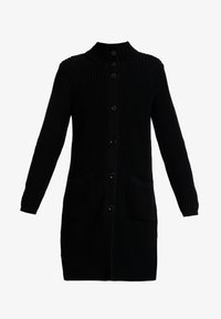 Marc O'Polo - CARDIGAN LONGSLEEVE HIGH COLLAR BUTTONS COZY - Cardigan - black