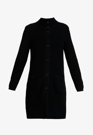 CARDIGAN LONGSLEEVE HIGH COLLAR BUTTONS COZY - Kardigan - black